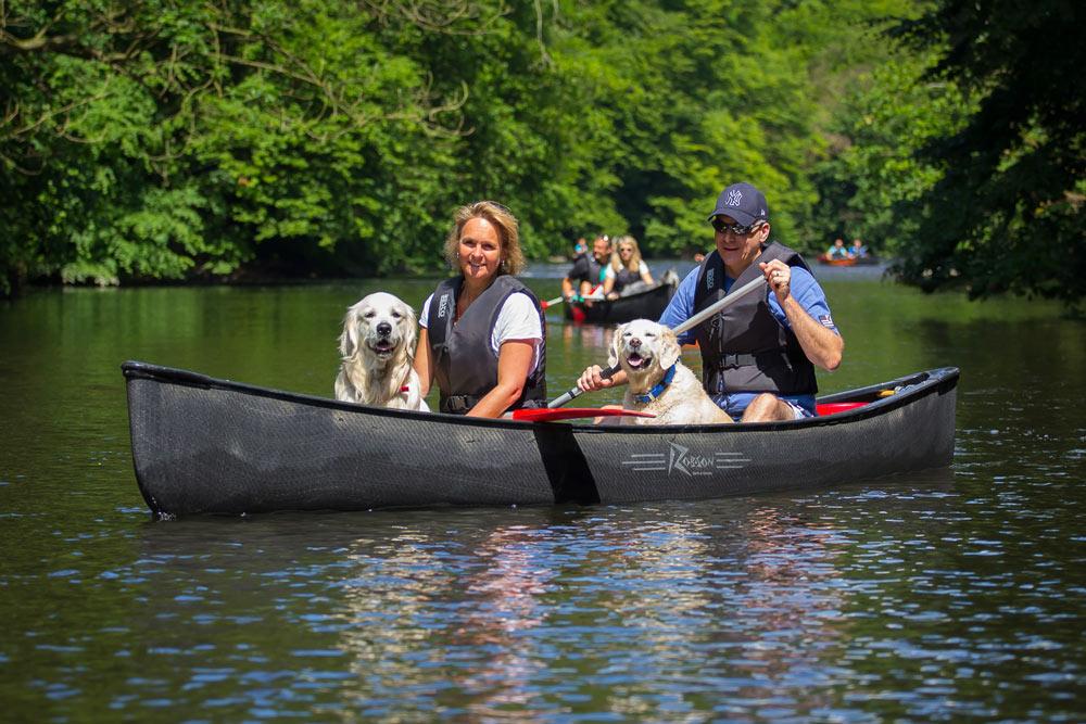 Hundekanu Wupper Dschungel 2017